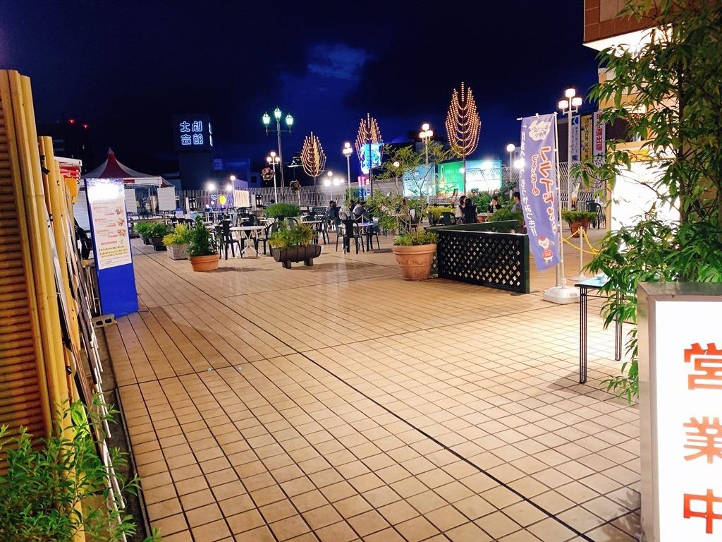 ビアガーデン会場@鶴屋百貨店
