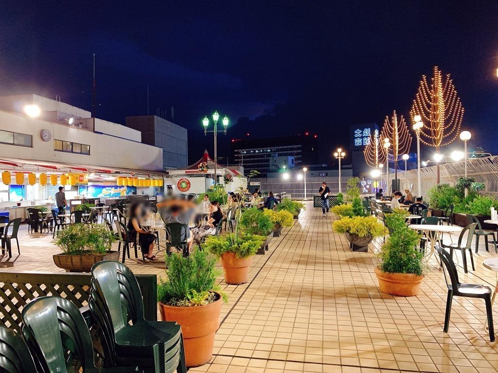 開放感抜群のビアガーデン@鶴屋百貨店