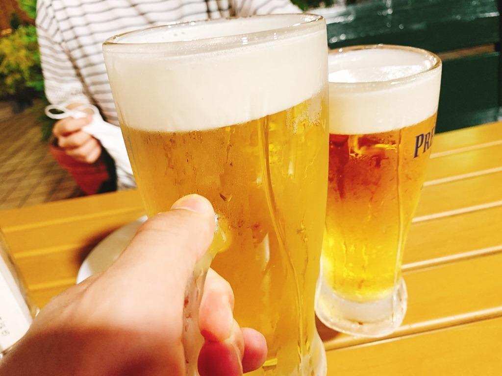 熊本県産プレモルで乾杯